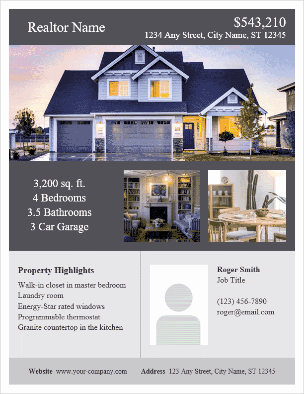 Open House Flyer Template Word Elegant Real Estate Flyer Template for Word