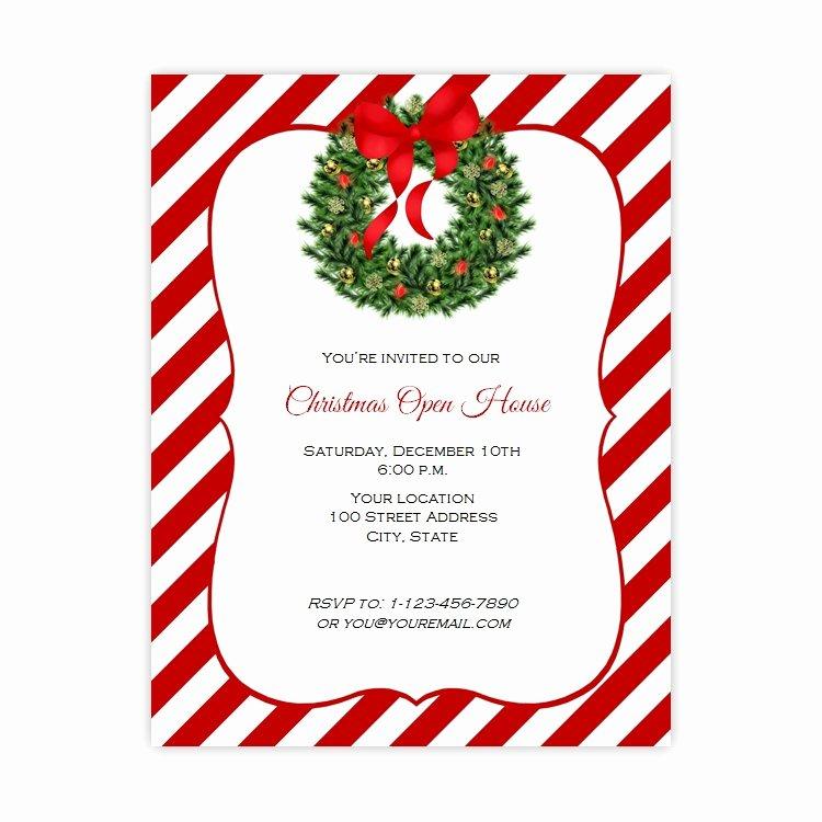 Open House Flyer Template Word Inspirational Christmas Open House Flyer Template Free Templates Data