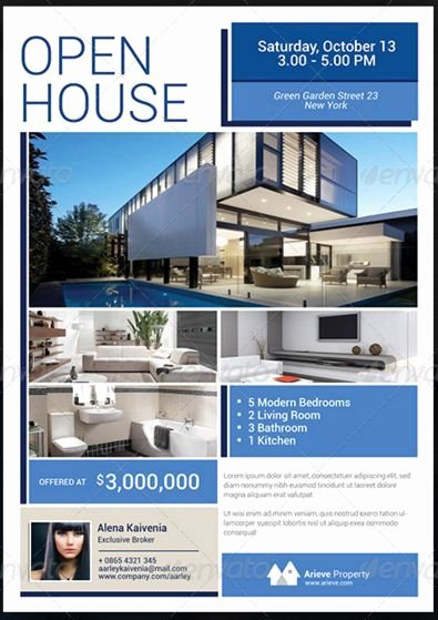Open House Flyer Template Word Inspirational Sample Real Estate Flyer at Open House