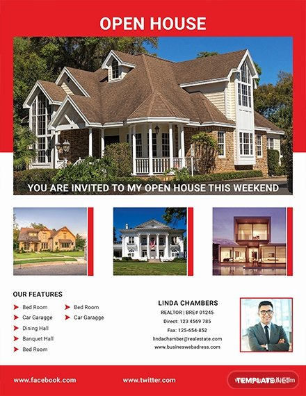 Open House Flyer Template Word Lovely Free Broker Open House Flyer Template Download 640