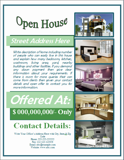 Open House Flyer Template Word Lovely Sample Open House Flyer Template