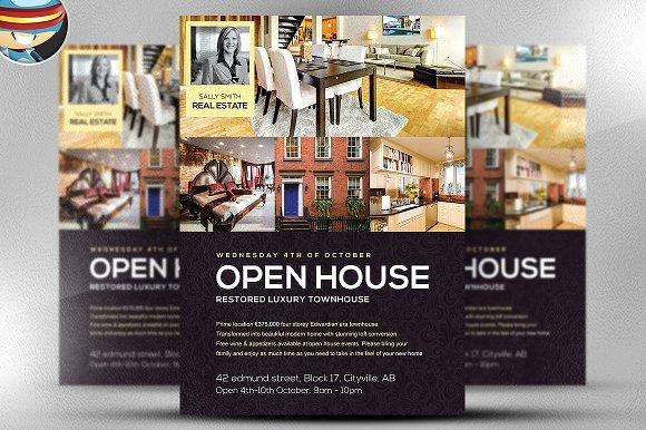 Open House Flyer Template Word Luxury Open House Flyer Template Flyer Templates Creative Market