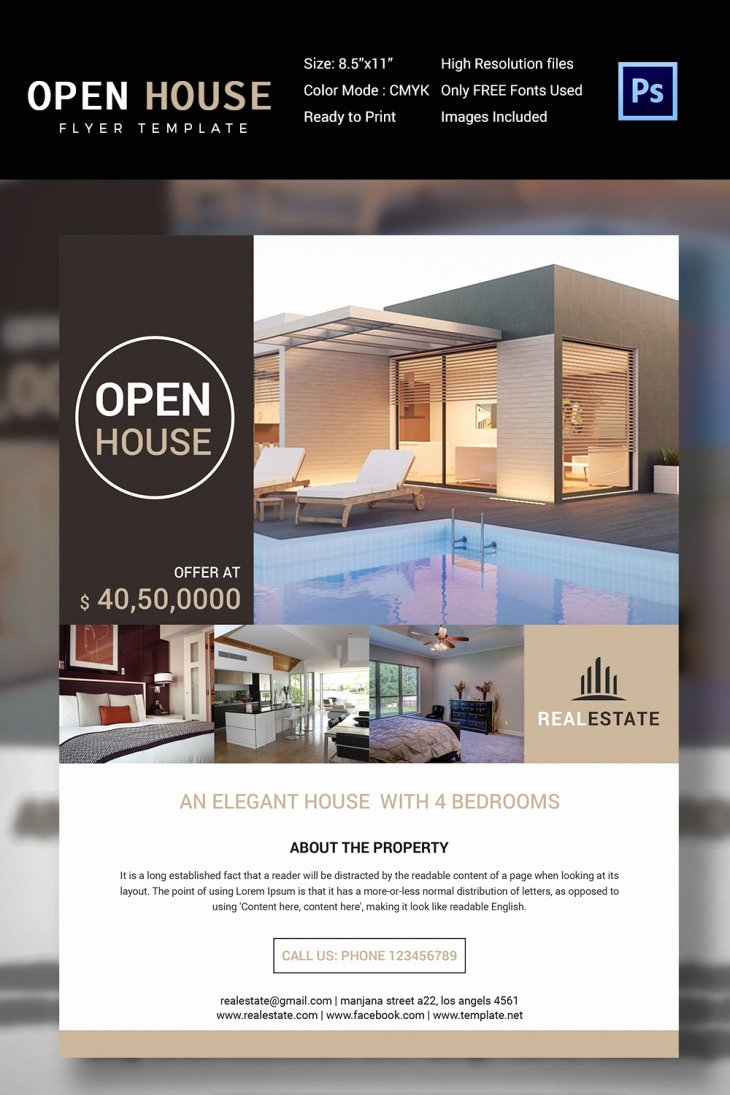Open House Flyers Template Awesome 27 Open House Flyer Templates Printable Psd Ai Vector