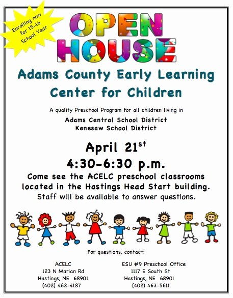 Open House Flyers Template Beautiful School Open House Flyer Template Kenesaw Public Schools