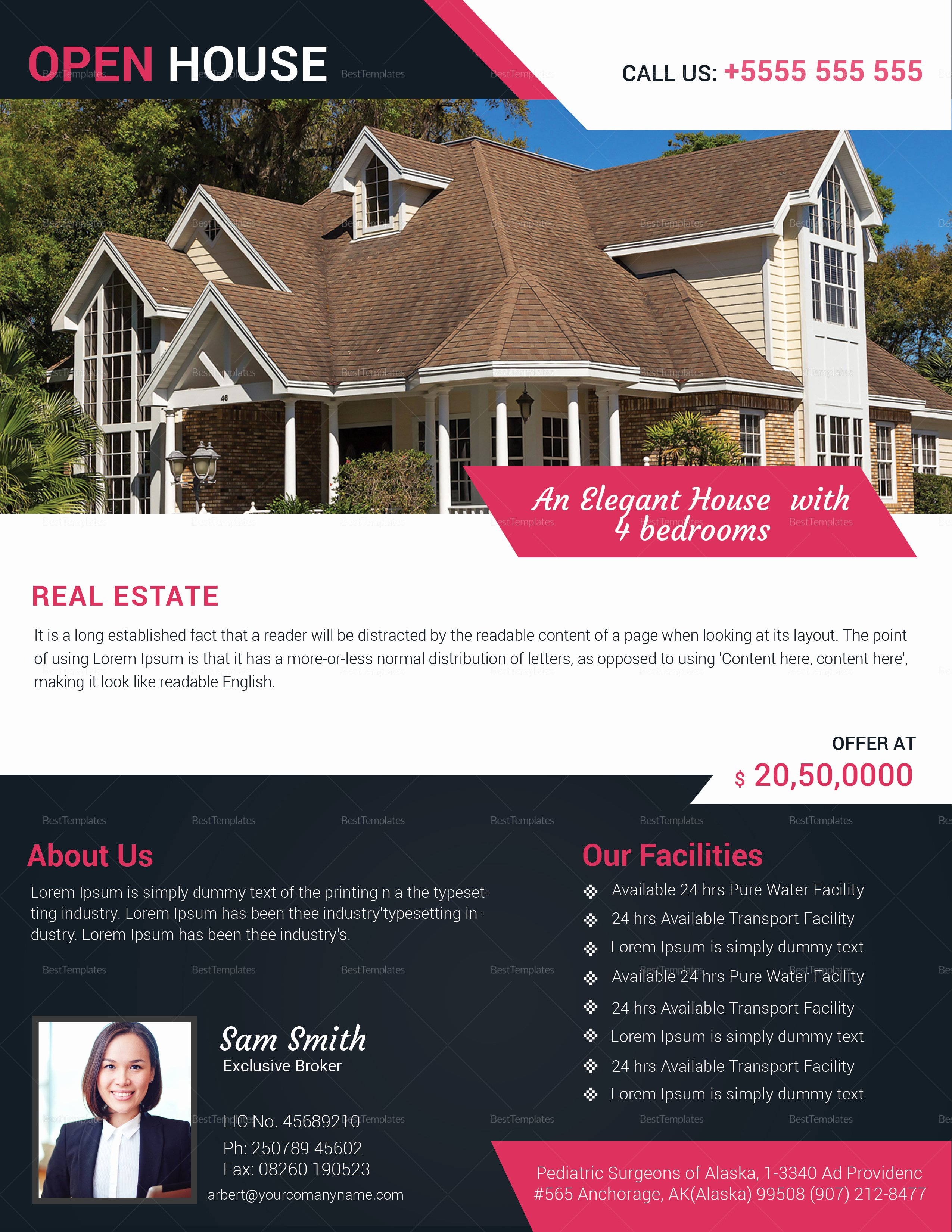 Open House Flyers Template Best Of Realtor Open House Flyer Design Template In Word Psd