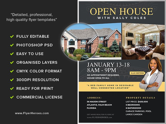 Open House Flyers Template Elegant Open House Flyer Template 2 Flyerheroes