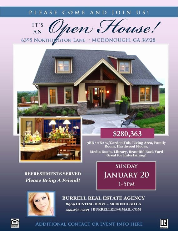 Open House Flyers Template Elegant Real Estate Open House Flyer Template Microsoft