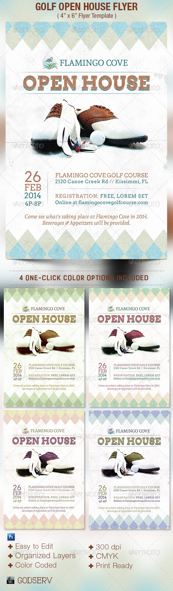 Open House Flyers Template Fresh Golf Open House Flyer Template
