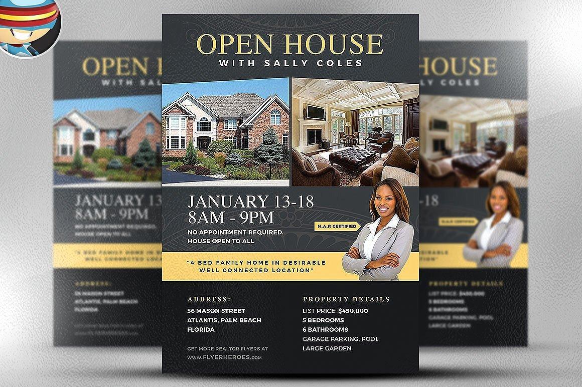 Open House Flyers Template Fresh Open House Flyer Template 2 Flyer Templates Creative