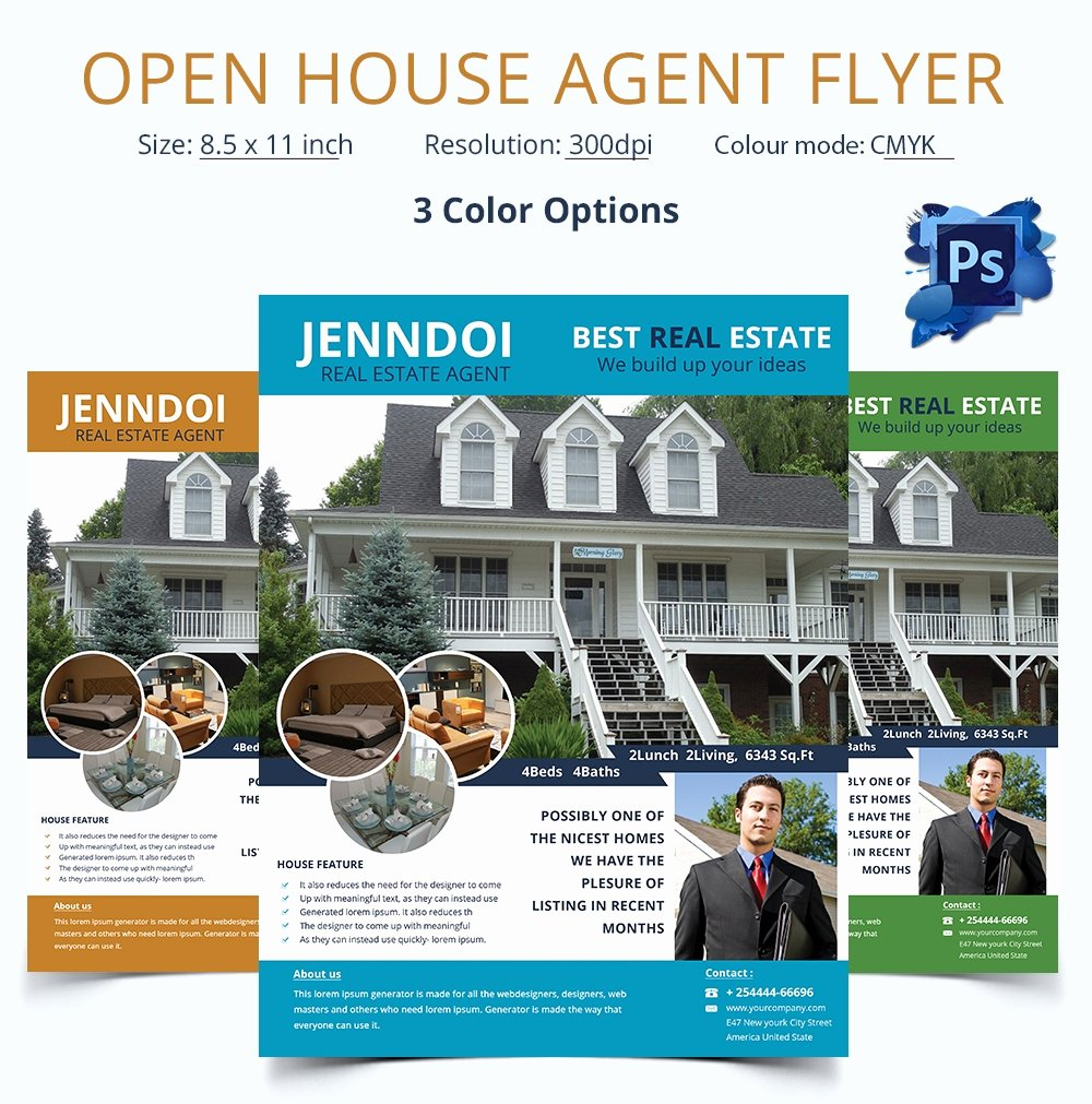 Open House Flyers Template Fresh Open House Flyer Template – 30 Free Psd format Download