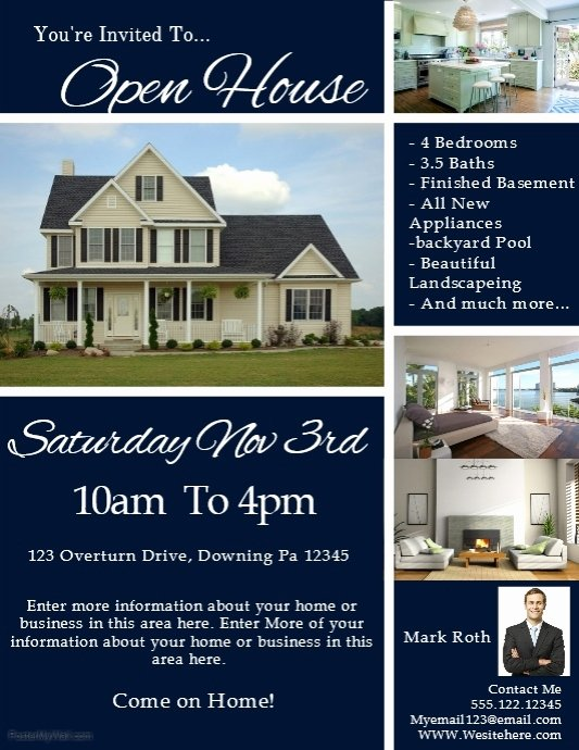 Open House Flyers Template Inspirational Real Estate Template
