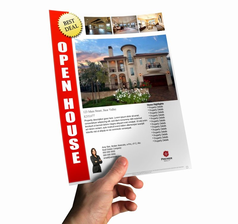 Open House Flyers Template Lovely How to Make A Last Minute Open House Flyer In Less Than