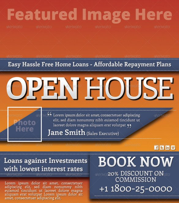 Open House Flyers Template Lovely Open House Flyer Templates – 39 Free Psd format Download