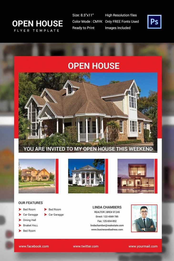 Open House Flyers Template Luxury 27 Open House Flyer Templates Printable Psd Ai Vector
