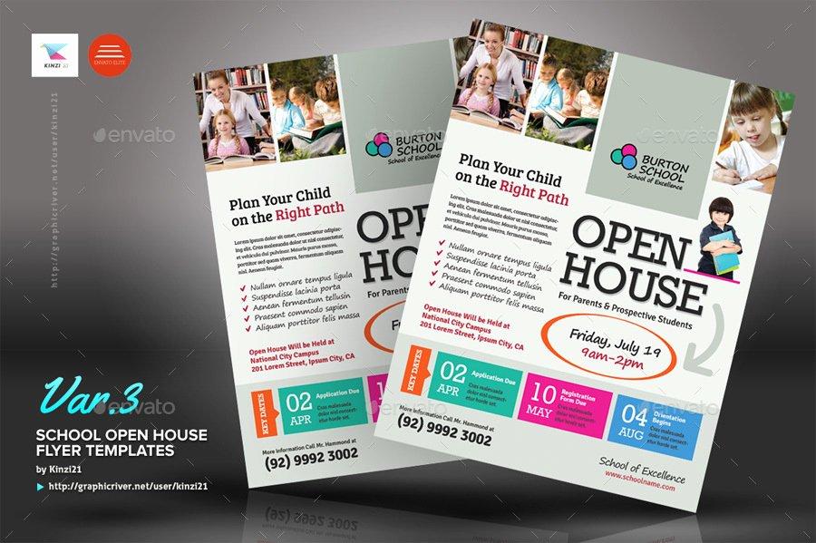 Open House Flyers Template Luxury School Open House Flyers by Kinz On Luxury Free Open House