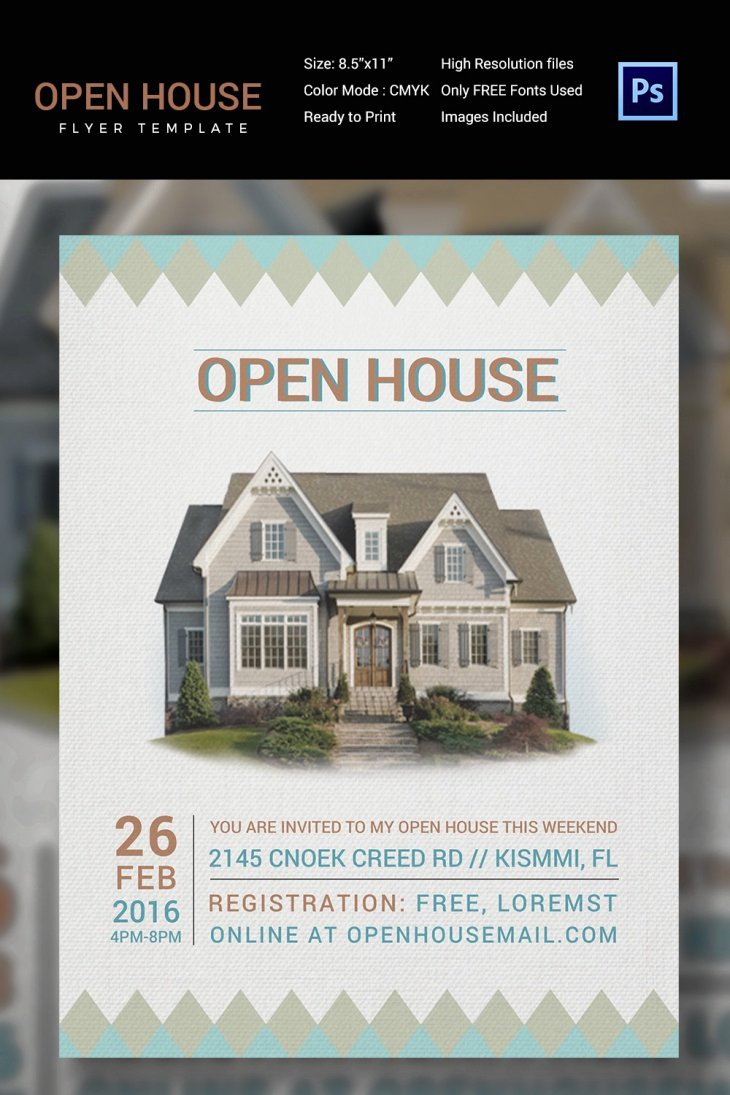 Open House Flyers Template New 27 Open House Flyer Templates Printable Psd Ai Vector