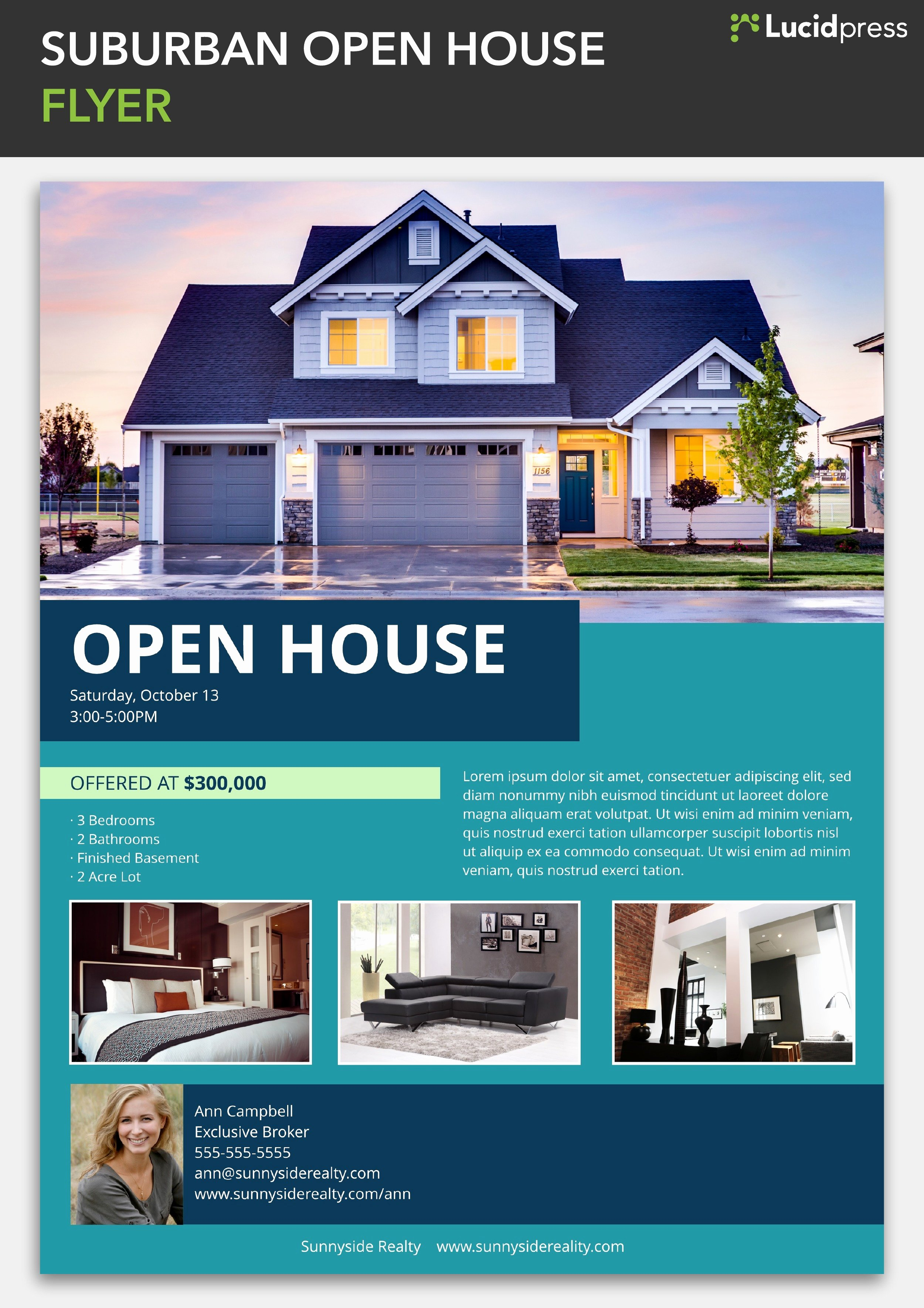 Open House Flyers Template New How to Build A social Media Campaign for Real Estate