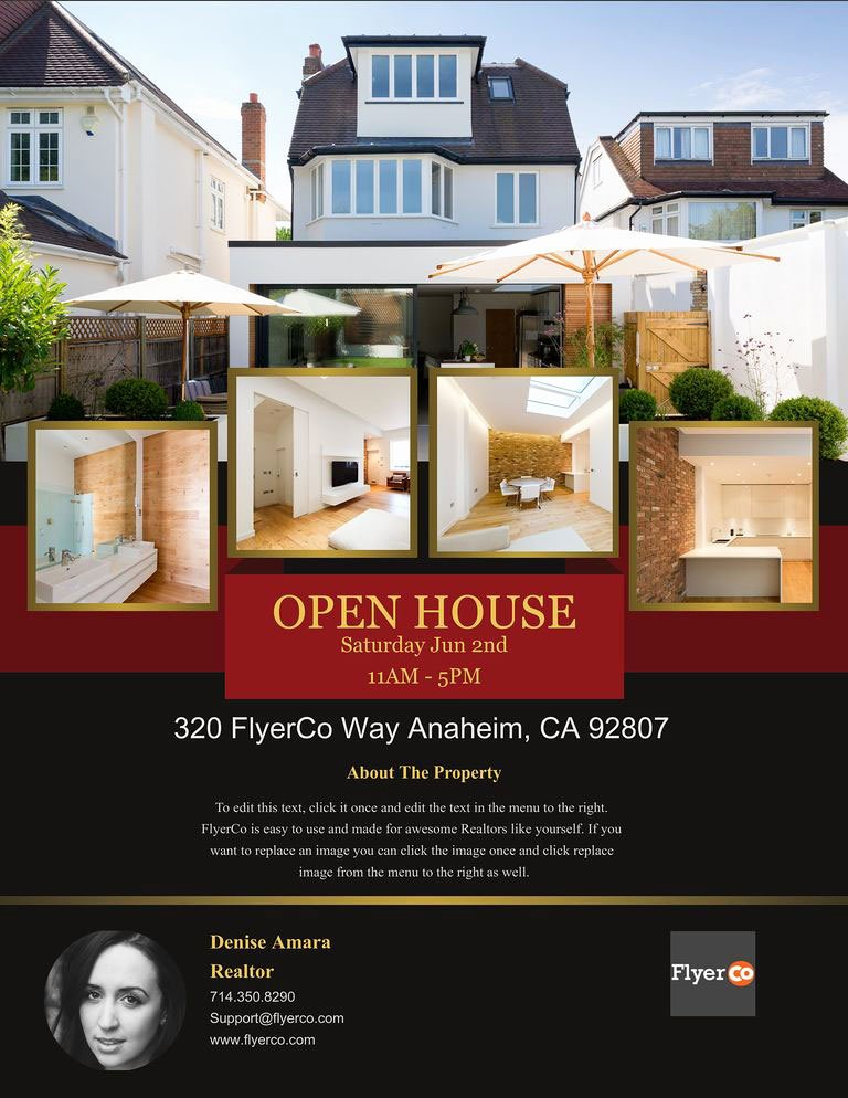 Open House Flyers Template Unique Design Winning Open House Flyers that Close Sales Real