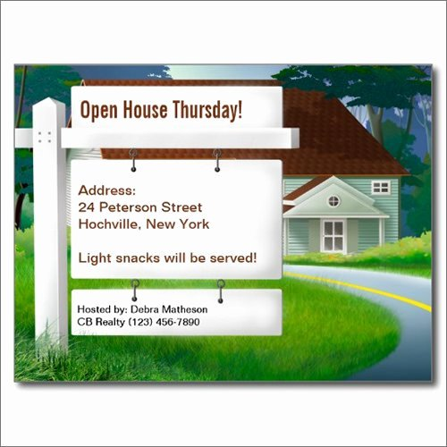 Open House Postcard Template Awesome 7 Best Of Open House Postcard Template Free