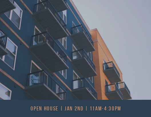 Open House Postcard Template Awesome Apartment Open House Postcard