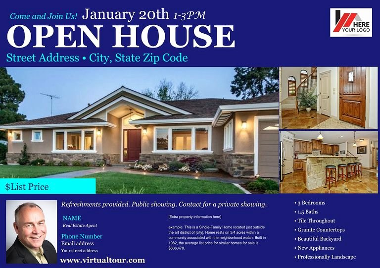 Open House Postcard Template Awesome Real Estate Open House Template Gallery Template Design