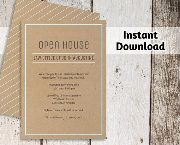 Open House Postcard Template Beautiful 25 Invitation Templates