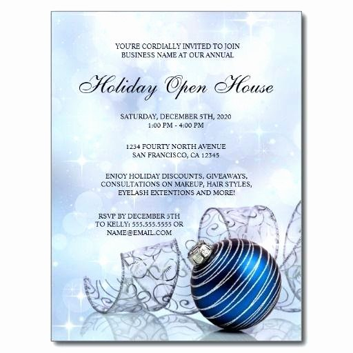 Open House Postcard Template Beautiful Festive Holiday Open House Invitation Postcard High