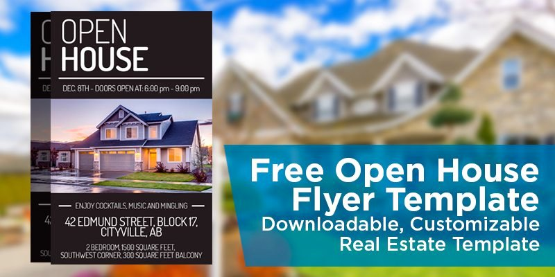 Open House Postcard Template Beautiful Free Open House Flyer Template – Downloadable