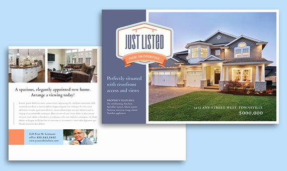 Open House Postcard Template Beautiful Real Estate Marketing Postcards – Quick & Easy Templates