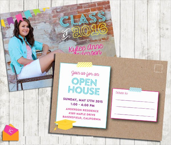 Open House Postcard Template Best Of 8 Graduation Invitation Postcards Designs Templates