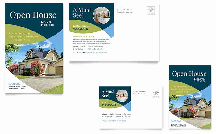 Open House Postcard Template Best Of Real Estate Marketing Postcards – Quick & Easy Templates