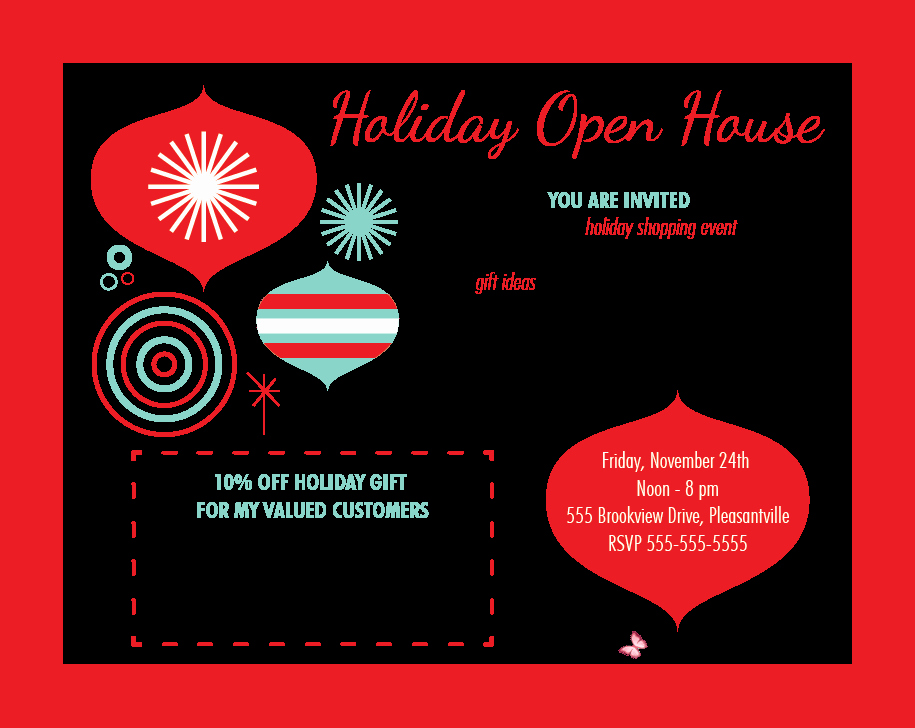 Open House Postcard Template Fresh House Party Invitation Template