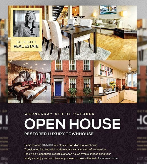 Open House Postcard Template Inspirational Open House Flyer Templates Word Excel Samples
