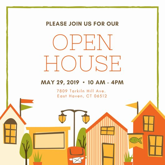 Open House Postcard Template Lovely Customize 499 Open House Invitation Templates Online Canva