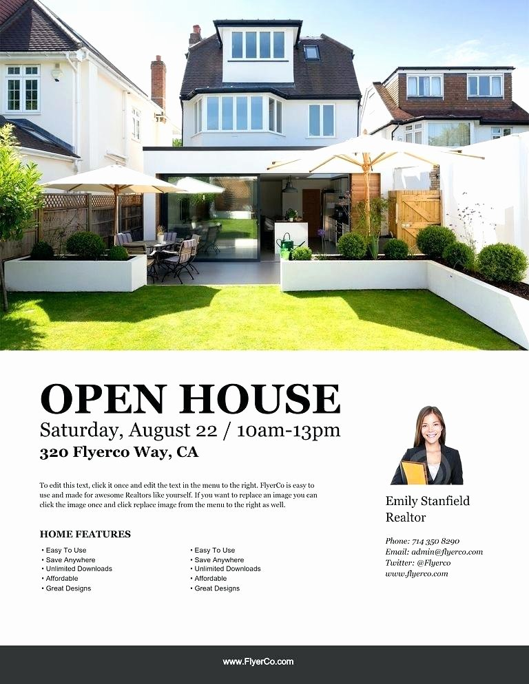 Open House Postcard Template New Real Estate Open House Postcard Template Holiday