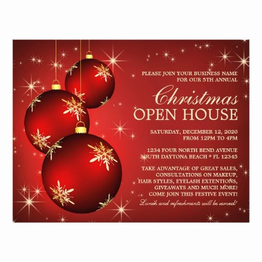 Open House Postcard Template Unique Christmas & Holiday Open House Flyer Template