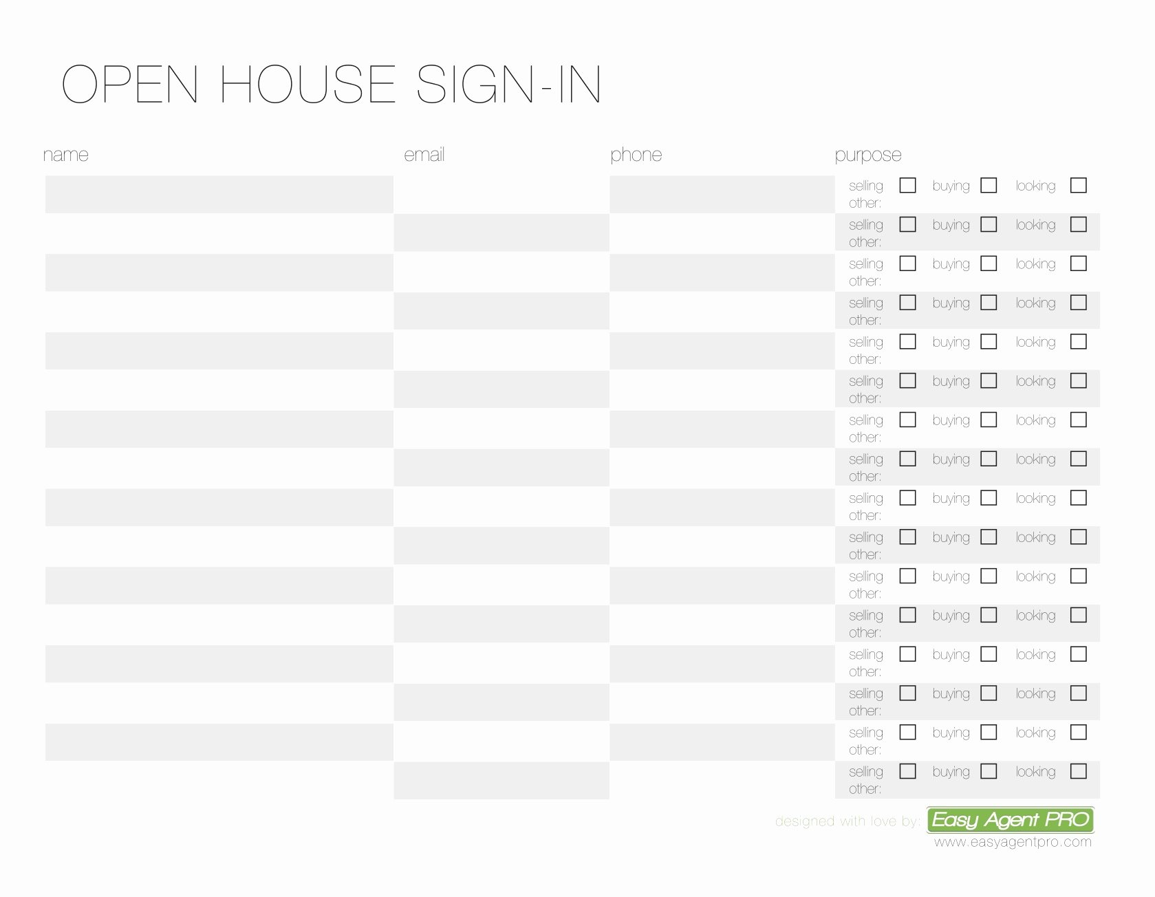 Open House Sign In Template Best Of Open House Sign In Sheet Printable Templates Free & Ready
