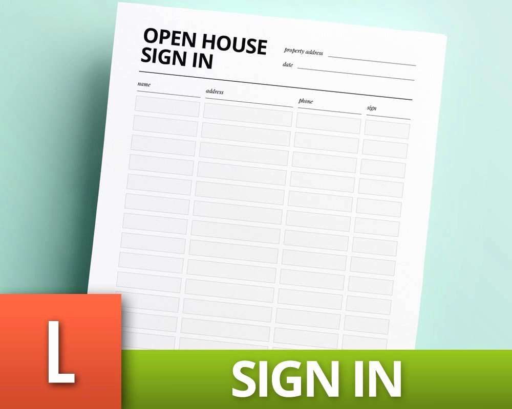 Open House Sign In Template Best Of Open House Sign In Template Real Estate Template Realtor