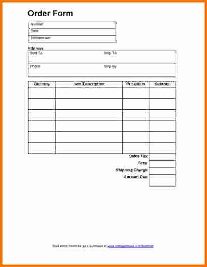 Order forms Template Word Beautiful 7 Food order form Template Word