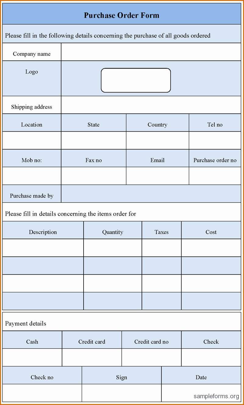 Order forms Template Word Best Of 7 order form Template Word