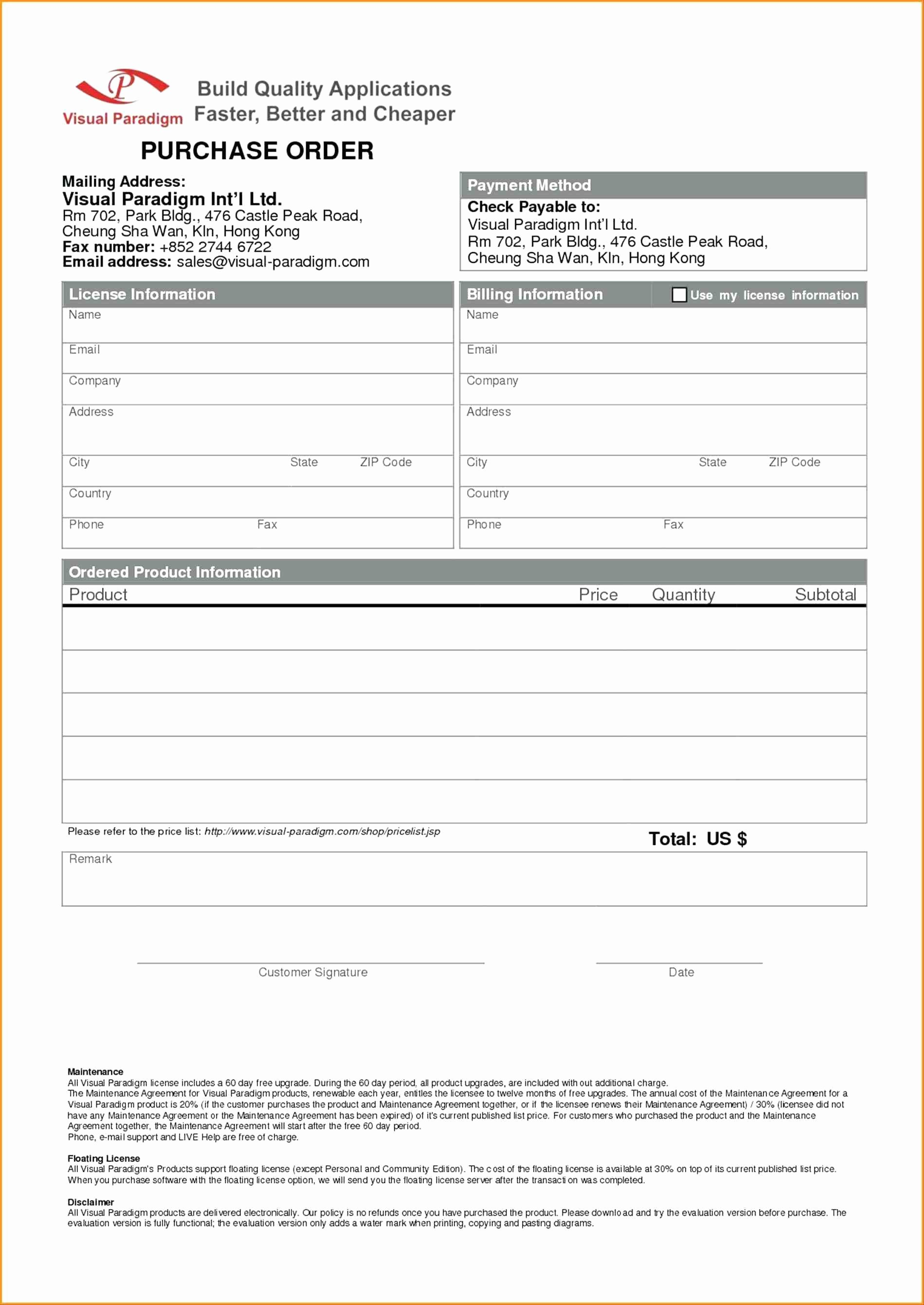 Order forms Template Word Lovely Disclaimer form Template