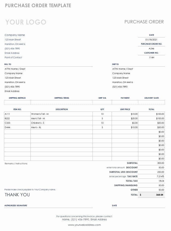 Ordering form Template Excel Awesome Free Purchase order Templates