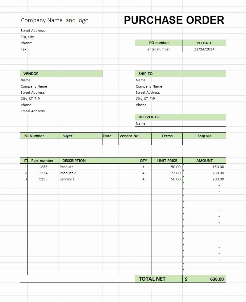 Ordering form Template Excel Inspirational 37 Free Purchase order Templates In Word & Excel