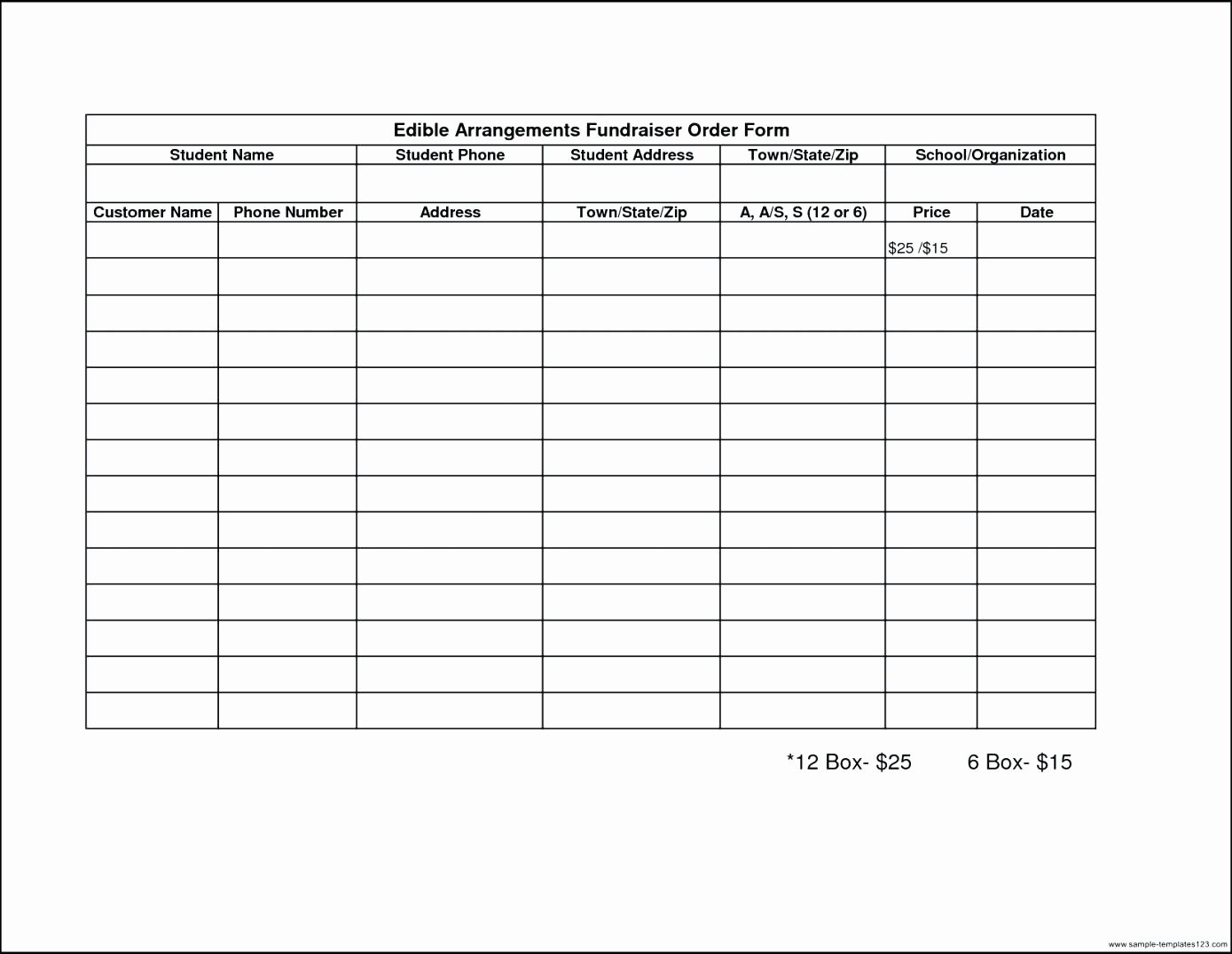Ordering form Template Excel New Template Sample order form Template Excel