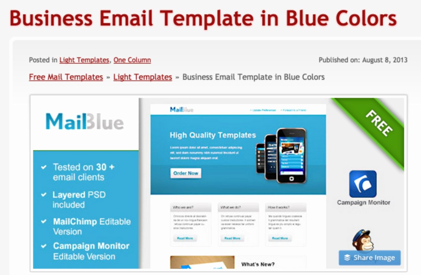 Outlook Email Template Free Awesome Free Email Templates