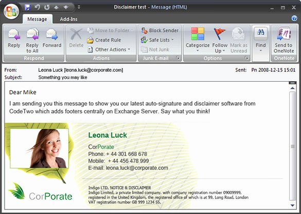 Outlook Email Template Free Lovely 12 Outlook Email Signature Templates Samples Examples