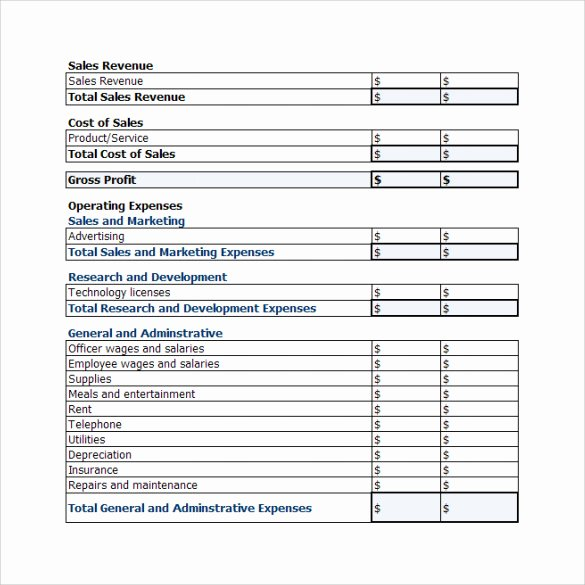 P and L Template Luxury 20 Sample Profit and Loss Templates Docs Pdf Apple