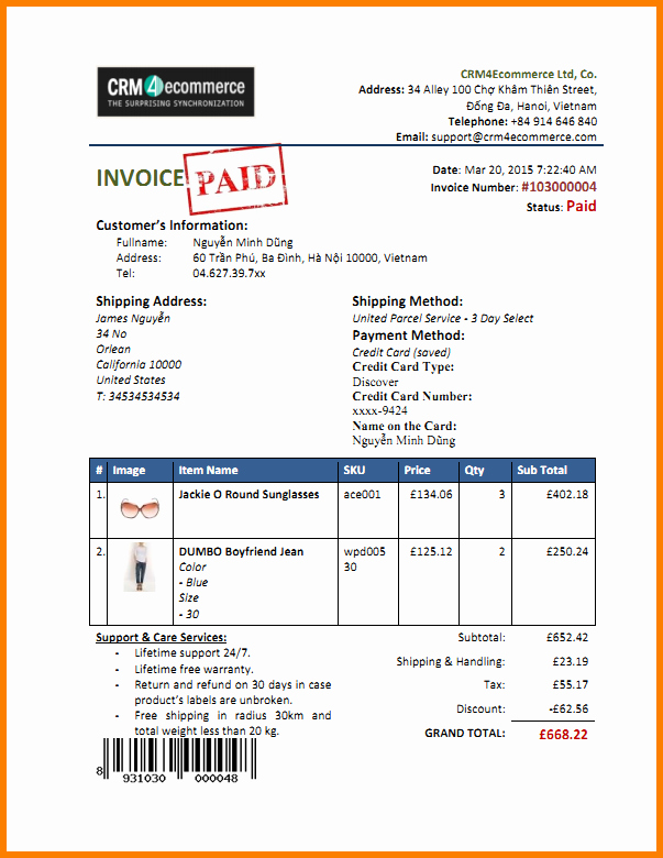 Paid In Full Invoice Template Elegant Paid In Full Invoice Template 6 Paid Invoice Template