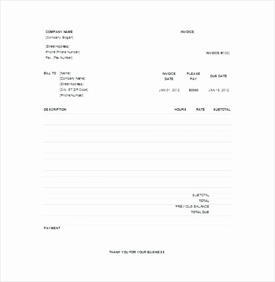 Paid In Full Invoice Template Inspirational Payment Receipt Template Excel – Grnwav