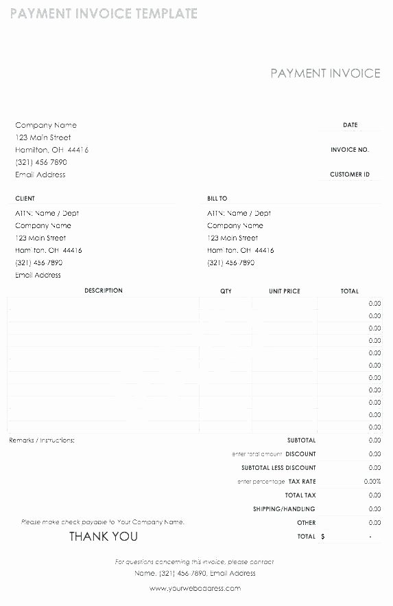 Paid In Full Invoice Template Luxury Free Editable Invoice Template Word From Excel Receipt